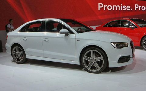 The A3 sedan will go head-to-head with other entry-level luxury sedans like the Mercedes-Benz CLA.