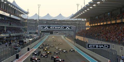 Sebastian Vettel leads Lewis Hamilton.