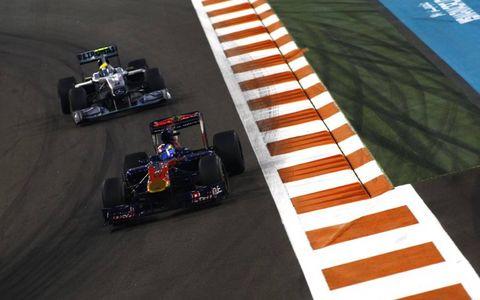 Sebastien Buemi leads Nico Rosberg.