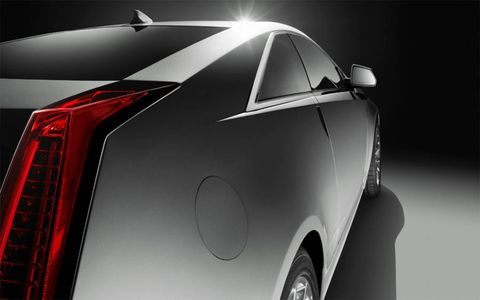 The LED light pipes in rear add to the appearance of fins--a trademark of iconic Cadillacs.