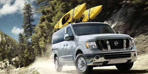 The 2012 Nissan NV Passenger SL is a great option for anyone with a pressing need to cart around a dozen people or a mountain of cargo.