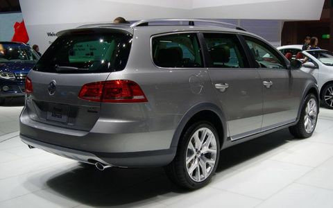 The VW Passat Alltrack gets extra ground clearance.