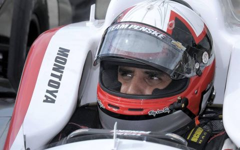 Juan Pablo Montoya was back in an Indy car at Sebring on Monday.