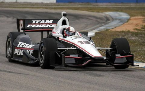 Juan Pablo Montoya was on the track at Sebring, Fla., on Monday.