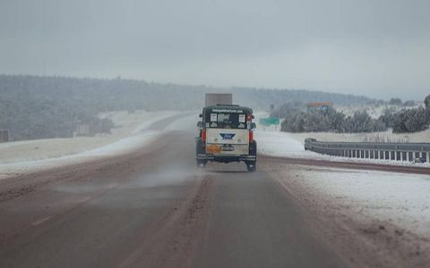 The team saw quite a lot of snow in New Mexico as a deadly winter storm moved through.