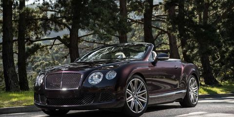 The 2013 Bentley Continental GT Speed Convertible will set you back $244,025.