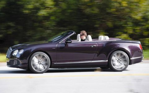 The 2013 Bentley Continental GT Speed Convertible tips the scales at 5,501 lbs.