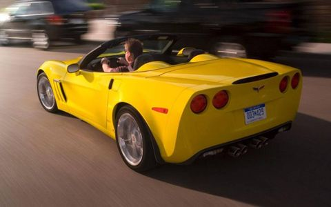 The 60th anniversary edition 2013 Corvette Grand Sport Convertible in our fleet was white with silver stripes--a surprisingly subtle combination for a sports car.