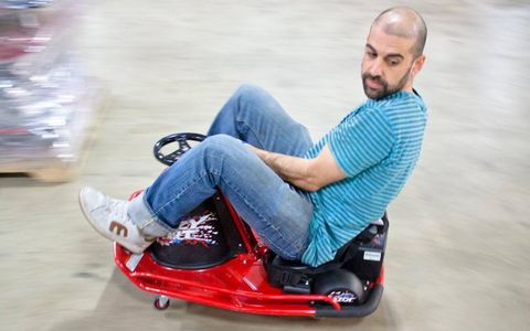 """Kermani has been riding Crazy Carts for six years. """"As long as your ankle works, you can just get in and go."""""""