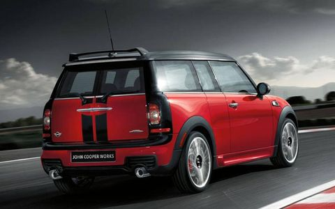 The Mini has an output of 208-hp and 192 lb-ft of torque.