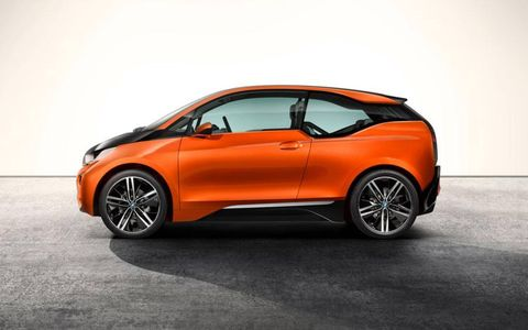 The BMW i3 coupe concept shares many styling cues with the five-door i3 hatchback slated to go on sale next year.