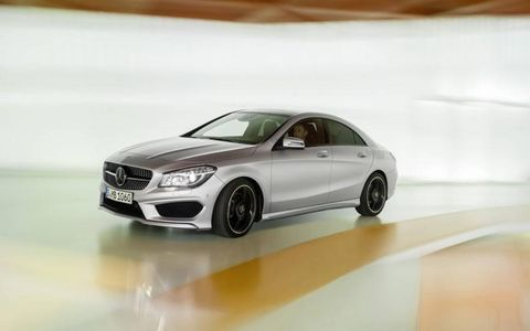 This 2014 Benz features front-wheel-drive and a seven-speed dual-clutch automatic transmission.