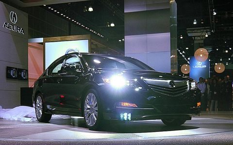 A front view of the 2014 Acura RLX.