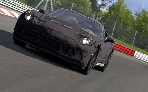 The 2014 Chevy Corvette prototype wears plenty of cover in Gran Turismo 5.