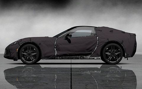 A side view of the Corvette prototype in the Gran Turismo 5 video game.