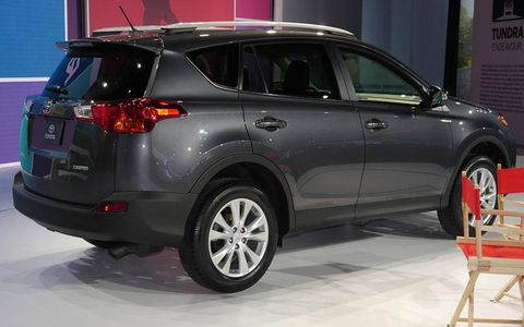 Toyota introduced the 2013 RAV4 SUV at the Los Angeles Auto Show.