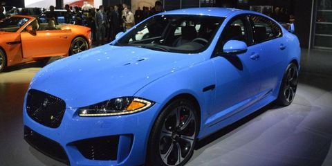 The Jaguar XFR-S debuted at the Los Angeles Auto Show.