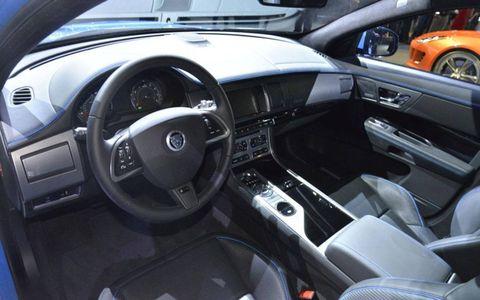 The instrument panel of the Jaguar XFR-S.