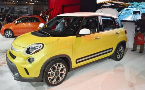 A front view of the Fiat 500L.