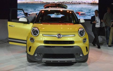 The nose of the Fiat 500L.