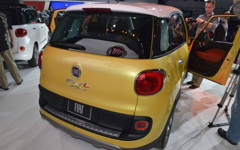 The Fiat 500L has a liftgate to store cargo.