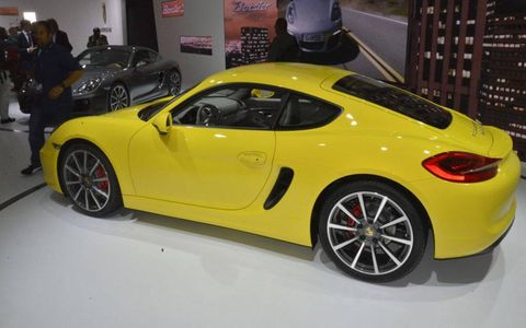The redesigned Porsche Cayman goes on sale in the spring.
