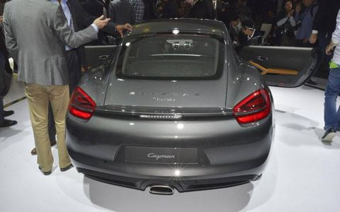What other drivers will see of the Porsche Cayman.