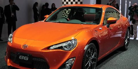 The Toyota 86 sports coupe is powered by a 200-hp Subaru engine.