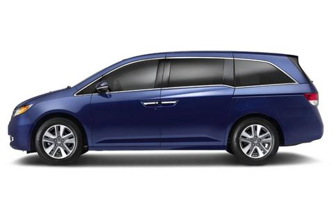 The 2014 Honda Odyssey Touring Elite is front-wheel drive with a six-speed automatic transmission.