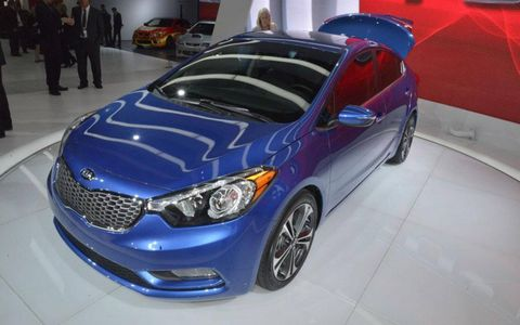 A front view of the 2014 Kia Forte.
