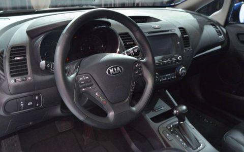 The new interior of the 2014 Kia Forte.
