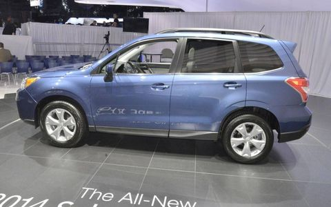 The 2014 Subaru Forester is slightly larger.
