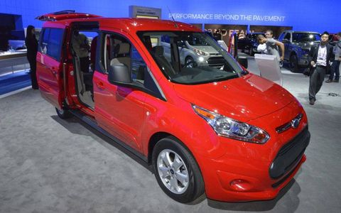 The Ford Transit Connect Wagon has seats for up to seven people.