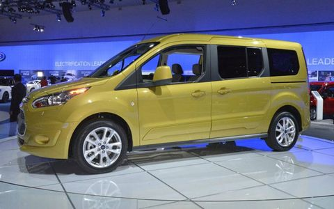 The Ford Transit Connect Wagon will have sliding doors on both sides.