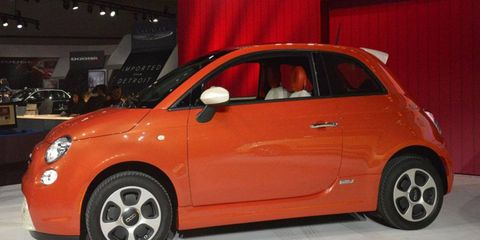 The Fiat 500e is an electric-powered version of the minicar.