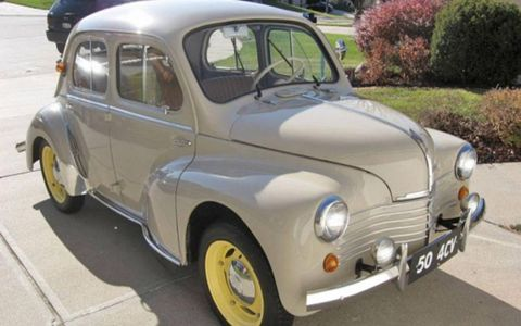 This clean, charming 1950 Renault 4CV is currently for sale in Omaha, Neb.