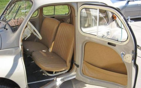 Four doors means the interior of the little Renault is surprisingly accessible.