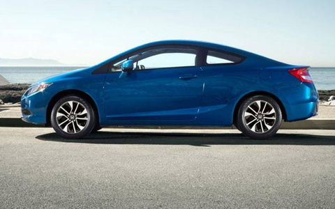 A side view of the 2013 Honda Civic coupe.