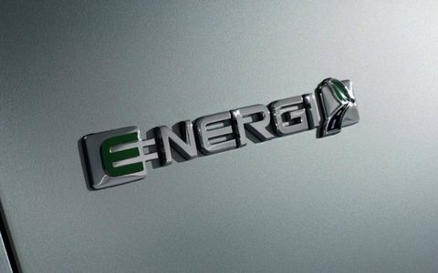 The 2013 Ford C-Max Energi carries Ford's new Energi badging, which will be applied to all of Ford's plug-in hybrids.