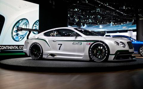 Bentley pledges that the Continental GT3 will make its motor-racing debut around this time next year.