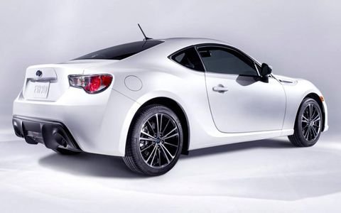 The Subaru BRZ shares mechanicals with the Scion FR-S.