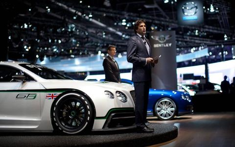 Bentley's Christophe Georges delivers the good news about American Bentley sales.