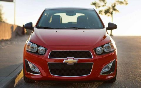 The 2014 Chevrolet Sonic LT starts at $16,380.