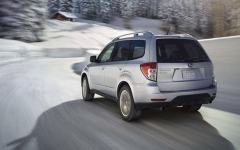 One downside to the otherwise pleasing powertrain on the 2012 Subaru Forester 2.5XT Touring is the outdated four-speed automatic transmission. Still, it's better than a CVT.