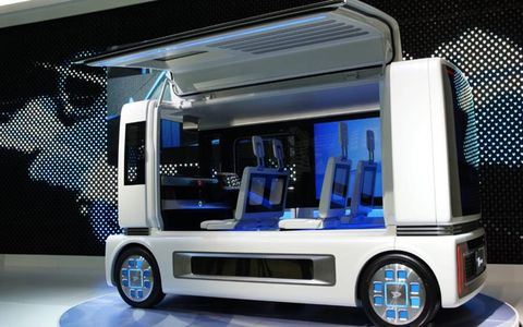 Daihatsu showed off its FC Sho Case vehicle at the Tokyo Auto Show