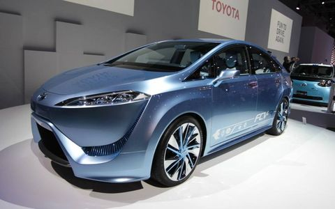 Toyota unveiled its fuel cell vehicle in Tokyo