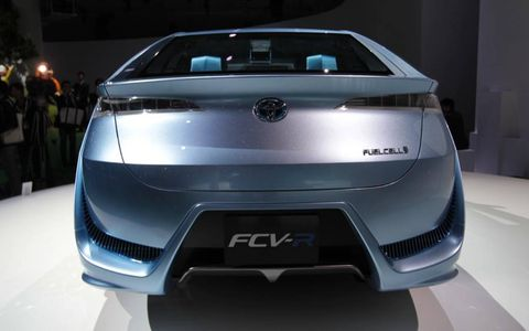 Rear view of the Toyota FCV-R from the Tokyo Motor Show