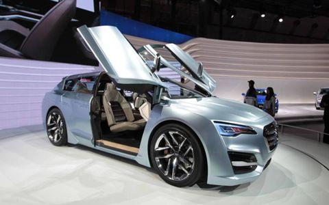 The Subaru Advanced Tourer Concept gets Lamborghini doors