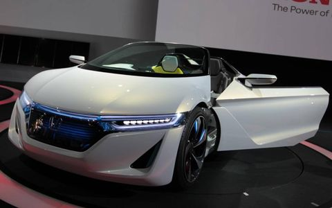 Honda says the EV-STER shown in Tokyo will go from 0-to-60 mph in five seconds