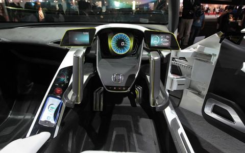 Looks more like a video game cockpit than an EV